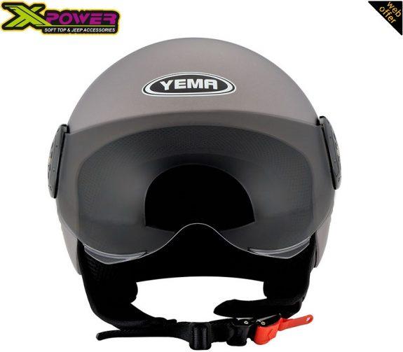 YM-611-Yema-Helmet-Half-Face-Grey-2